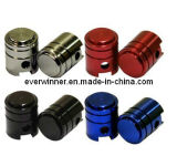 Ciclo de moto Carro Anodizado Alloy Piston Tire Valve Dust Cap Cover