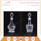 Frasco de uísque de vidro da qualidade superior com selo de vidro da cortiça