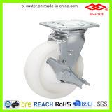 rodízio resistente da poliamida da placa do giro de 100mm (P701-30D100X50)