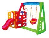 De Plastic Dia van kinderen en de Apparatuur van de Speelplaats van de Combinatie van de Schommeling (hc-16509)