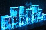 3D dentro de la máquina de grabado del laser cristalino