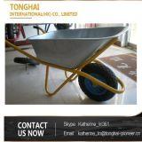 Wheelbarrow galvanizado Wb6404 do metal para logísticas e jardinagem da construção