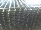 機密保護のやりの上の鋼鉄塀のパネル