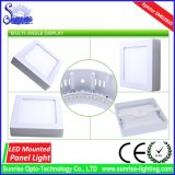 18W에 의하여 거치되는 사각 LED 아래로 또는 천장 빛