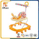 Caminhante plástico simples do bebê de China com dossel