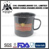 Lebensmittelsicherheit-dekorativer Porzellan-Decklack-Becher mit Firmenzeichen-Abziehbild