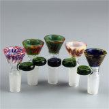 Tazón de fuente de cristal coloreado embriagador al por mayor 14.5mm/18.8m m de los accesorios de cristal