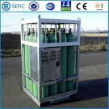 Estante de alta presión usado plataforma del cilindro de gas del nitrógeno del argón del oxígeno (EN ISO9809-1)