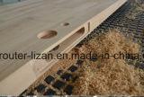 Puerta de la maquinaria de carpintería que hace el ranurador del CNC