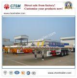Flatbed Semi Aanhangwagen van het platform voor 40FT Vervoer van de Container