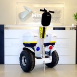 El equilibrio del uno mismo de dos ruedas se levanta el crucero eléctrico de la policía