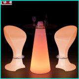 Beweglicher Stab-Tisch mit Glasoberseite-und Wein-Halter