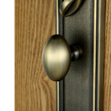 LuxuxZinc Alloy Entrance Handle Set in Satin Brass