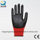 gants fonctionnants industriels protecteurs de travail enduits par nitriles du polyester 13G (N006)