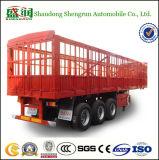 반 공용품 50tons 3 차축 가축 수송 격자 담 말뚝 트레일러