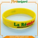 Wristband di gomma del silicone del mestiere di disegno del cliente