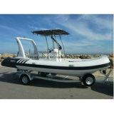 Aqualand 20feet 6.2m Rigid Inflatable Motor BoatかRib Fishing Boat (rib620d)