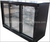Refrigerador preto da cerveja das portas deslizantes da loja 3 (WGL-298SF)