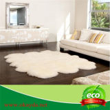 Eco 무두질하는을%s 지면에 자연적인 백색 색깔을%s 가진 진짜 오스트레일리아 양가죽 두 배 Quarto Sexto Octo 모피 양탄자
