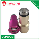 USB Stainless Steel Car Charger di 5V 2.1A Dual