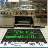 スリップ防止台所ゴム製マット、ホテルのゴム製マット、排水のゴム製マットの抗菌性の床のマット