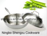 18/10 Wok Cookware нержавеющей стали китайских варя сковороду (SX-WO32-E)