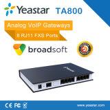 Gateway analogico portuario ATA del Gateway 8 Rj11 FXS VoIP de Yeastar SIP