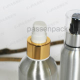 Silver Cosmetic Cream Packaging Bottle with Luxury Lotion Dispenser (PPC-ACB-056)