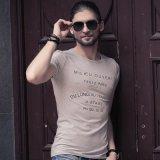 T-shirt en bonne santé d'impression promotionnelle faite sur commande en gros de mode (XY0052)