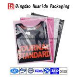 Sachet en plastique comique de empaquetage estampé par logo clair de vêtement