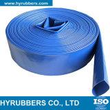 Boyau bleu et orange de PVC Layflat, boyau pour l'irrigation
