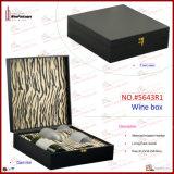 Los rectángulos de regalo de cuero de los vidrios de vino del Faux venden al por mayor (5643R1)