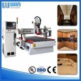 Máquina de estaca acrílica de madeira da superfície curvada do CNC da espuma de 4 linhas centrais