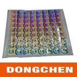Kundenspezifisches Silber-Laser-Anti-Fälschenhologramm-Kennsatz