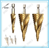 Broche 3PCS HSS Spiral Grooved Step Drill Bit