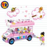 Kind-blockt Plastikeiscreme-LKW Spielzeug