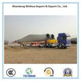 Semi reboque do caminhão do transporte resistente Lowbed da pá do ventilador