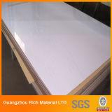 Белый лист пластмассы PMMA цвета акриловый рекламируя лист плексигласа