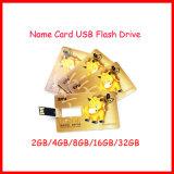 Disco USB de la tarjeta Nombre de la unidad flash tarjeta de crédito de memoria Flash USB Mini