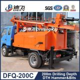 Plataforma de perforación del martillo móvil de DTH para la perforación del agua