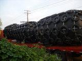 電流を通された鎖およびタイヤが付いている海洋の空気のゴム製フェンダー中国製