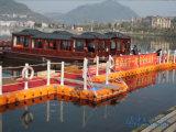 Embarcadero el pontón de flotación del HDPE para los barcos