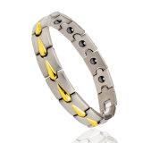 Bracelet magnétique d'énergie de germanium infrarouge d'anion de bijoux d'acier inoxydable de mode
