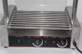 Máquina aprobada de la parrilla del rodillo del perrito caliente del acero inoxidable del Ce
