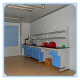 Banco de parede de laboratório de madeira de madeira de aço