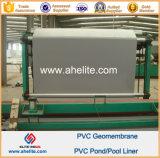 Trazadores de líneas superficiales lisos de la charca del PVC Geomembranes del color de azul gris