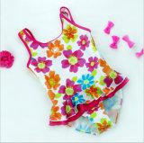Vêtements de bain hérissés par mode de petites filles