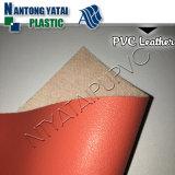Couro artificial do PVC da limpeza fácil para a mala de viagem