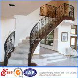 Balustrade intérieure d'escalier de fer travaillé