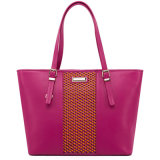 Migliori Selling & Fashion Genuine Leather Weave Women Handbag (8920D)